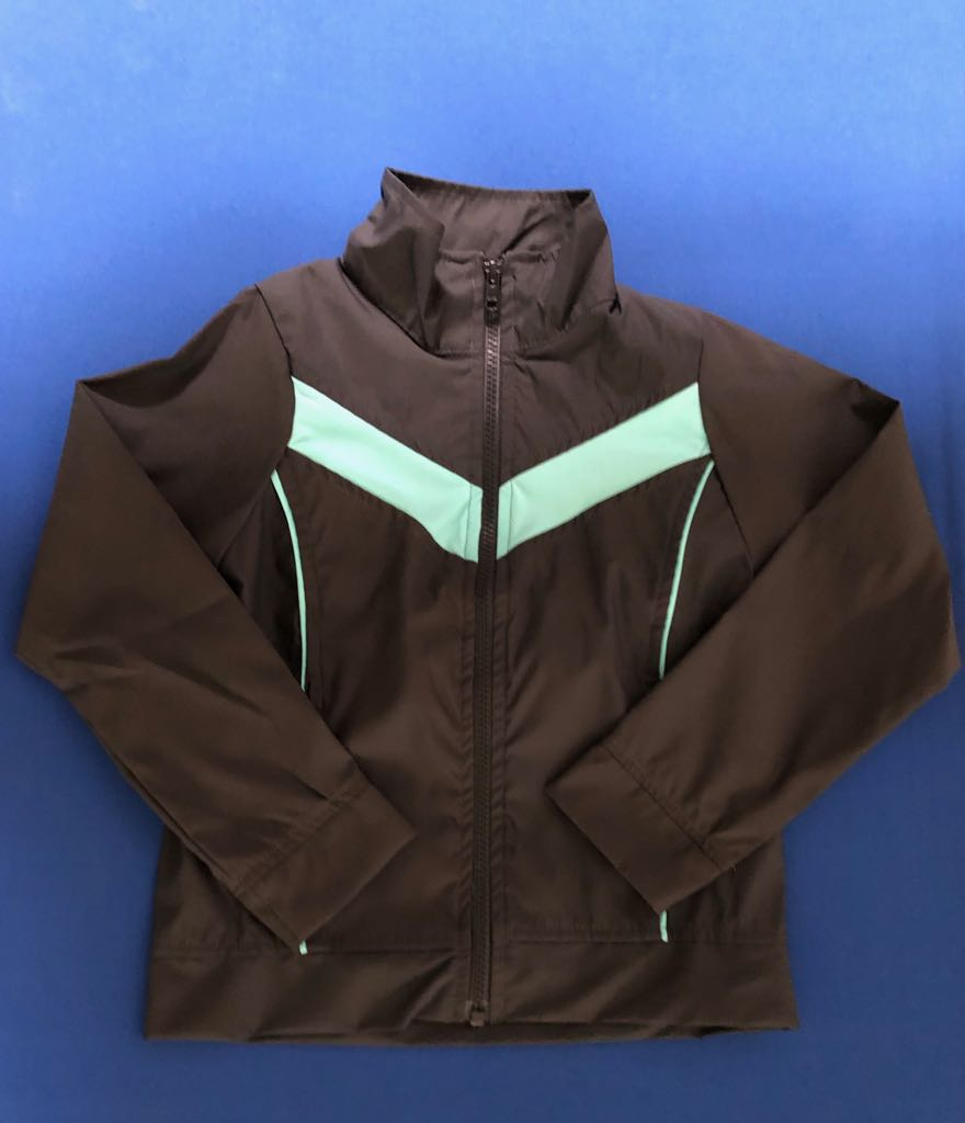 Iribó - Jacket de buzo. Gris con turquesa