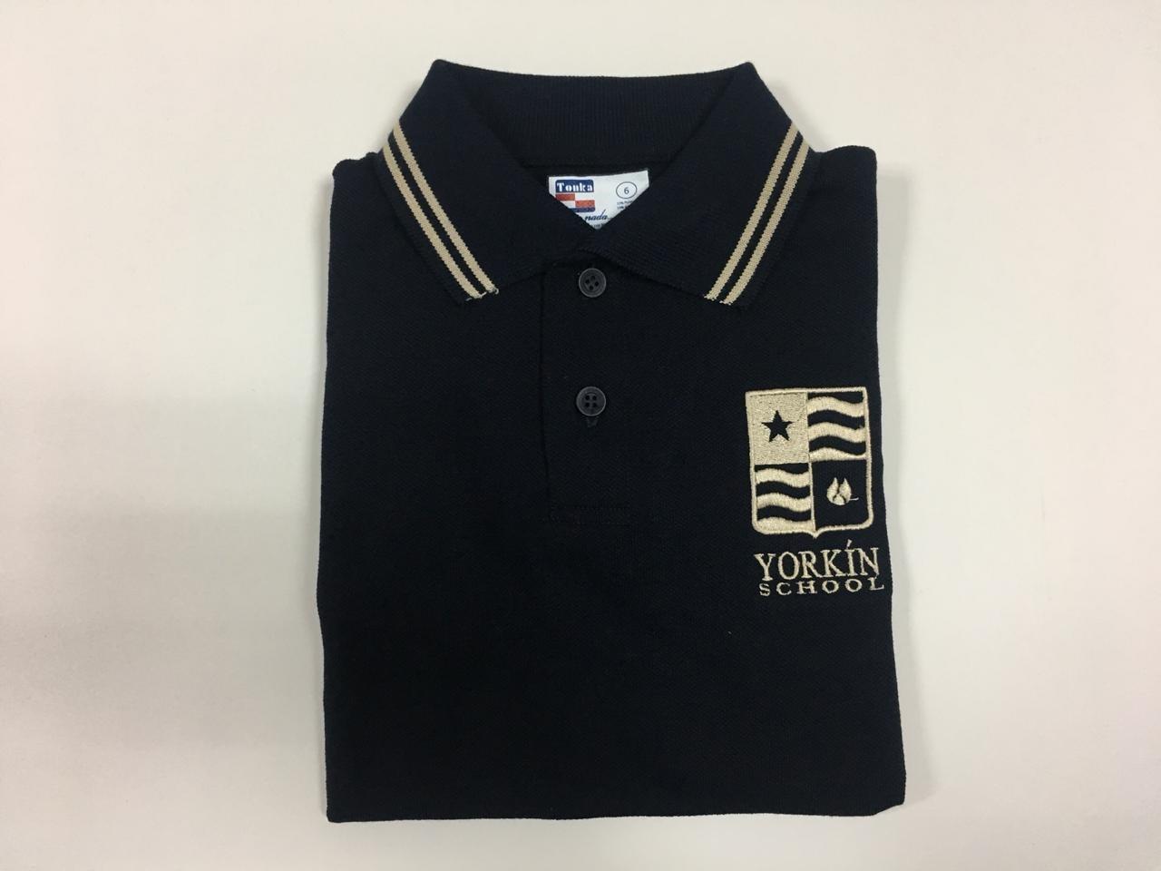 Yorkín - Camisa Polo Piqué Azul