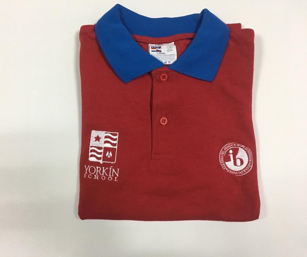 Yorkín - Camisa Polo Piqué Rojo para BI